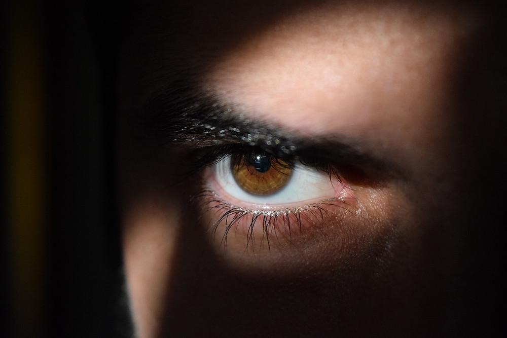 Olho espionando