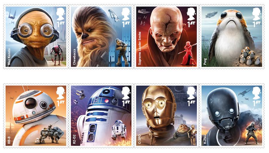 Selos britânicos de Star Wars
