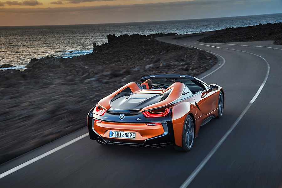 Traseira do i8 Roadster, da BMW