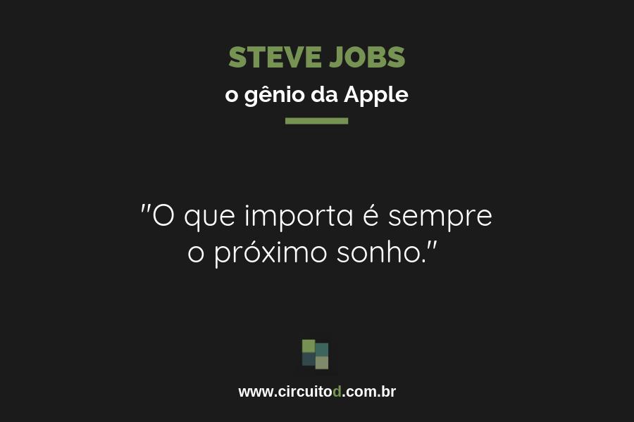 Frase sobre sonhos de Steve Jobs