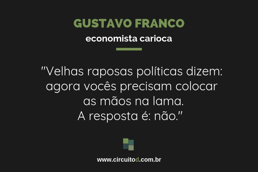Frases sobre política de Gustavo Franco