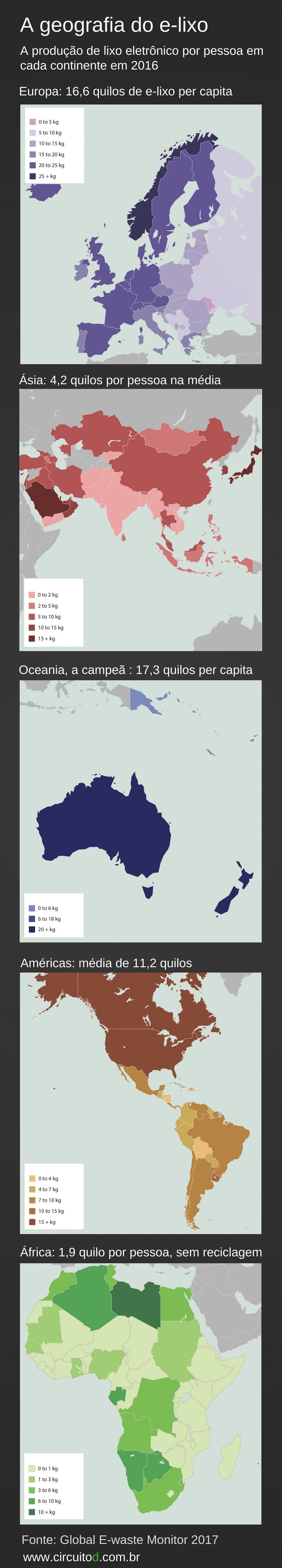 Geografia do e-lixo em mapas