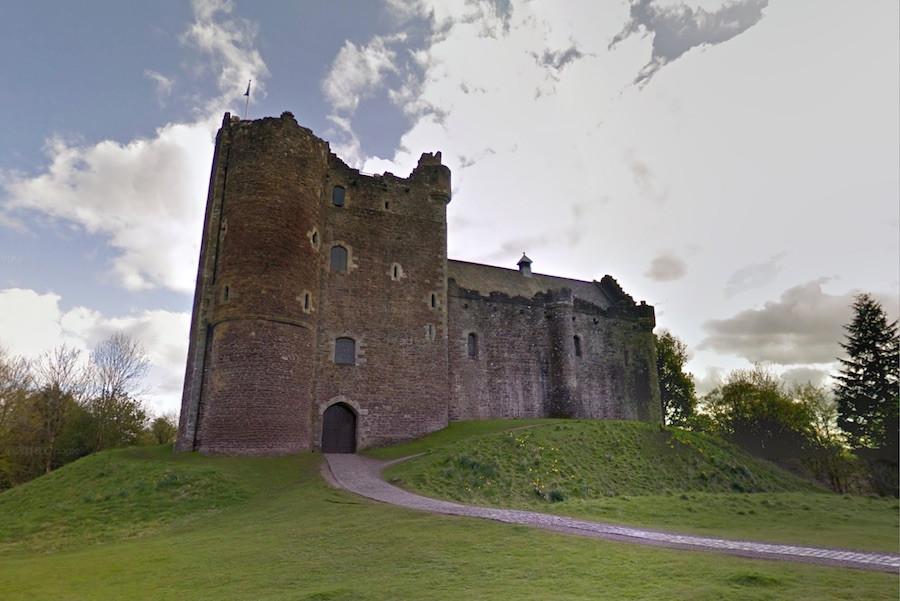 As locações de Winterfell são feitas no Castelo de Doune, na região central da Escócia.