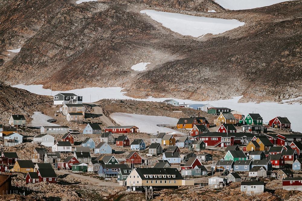 Vilarejo na Groenlândia
