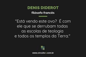Frase de Diderot sobre Ciência