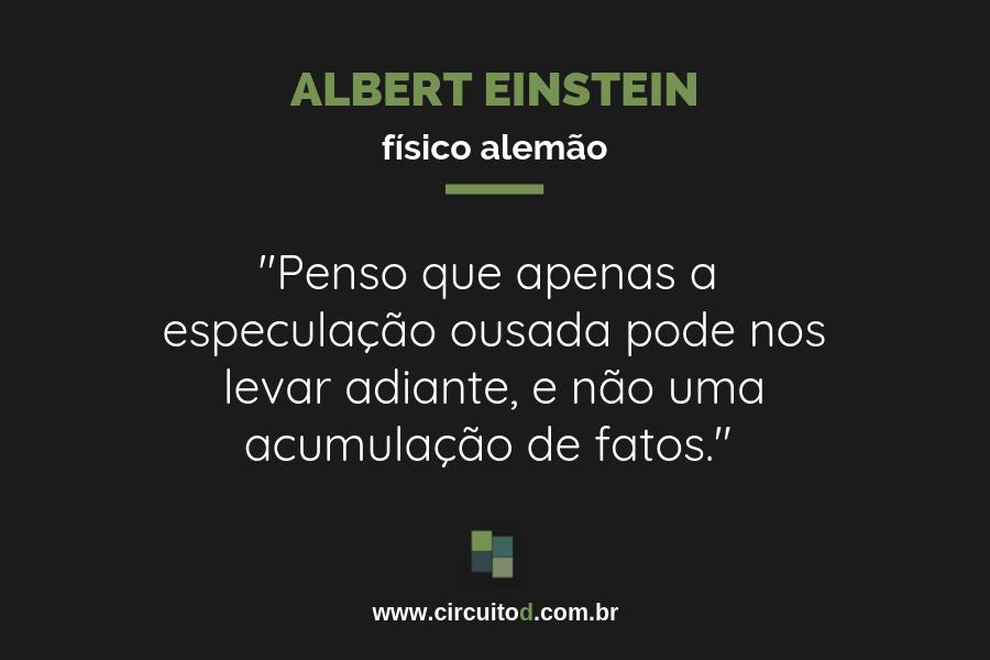 Frase sobre Ciência de Albert Einstein