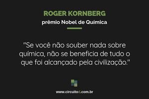 Frase sobre química de Roger Kornberg