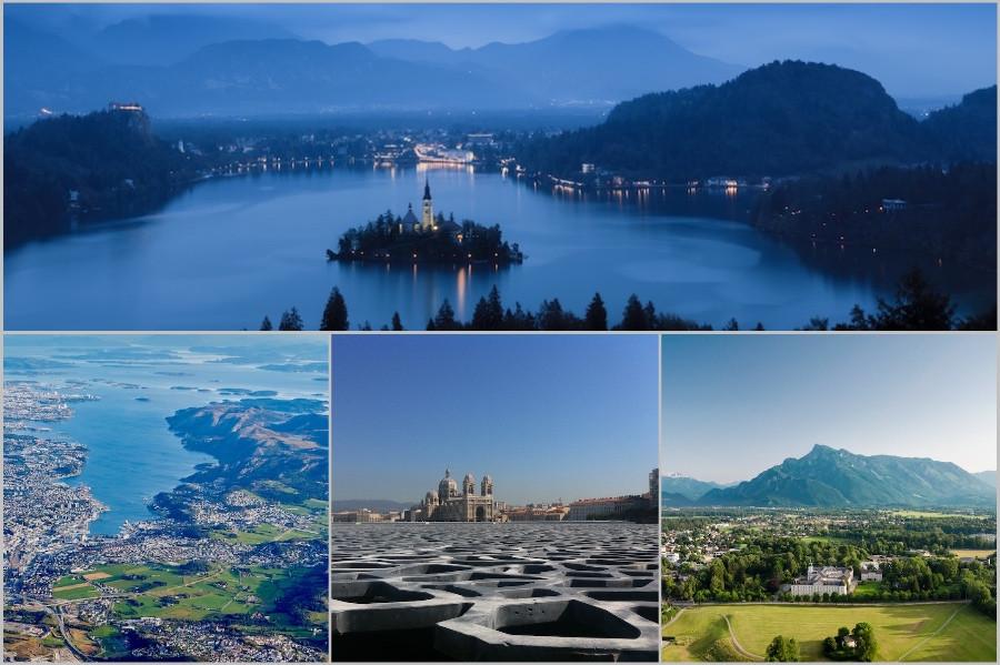 Colagem de cidades que se destacam no índice EPI