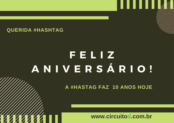 Cartão de parabéns para hashtag