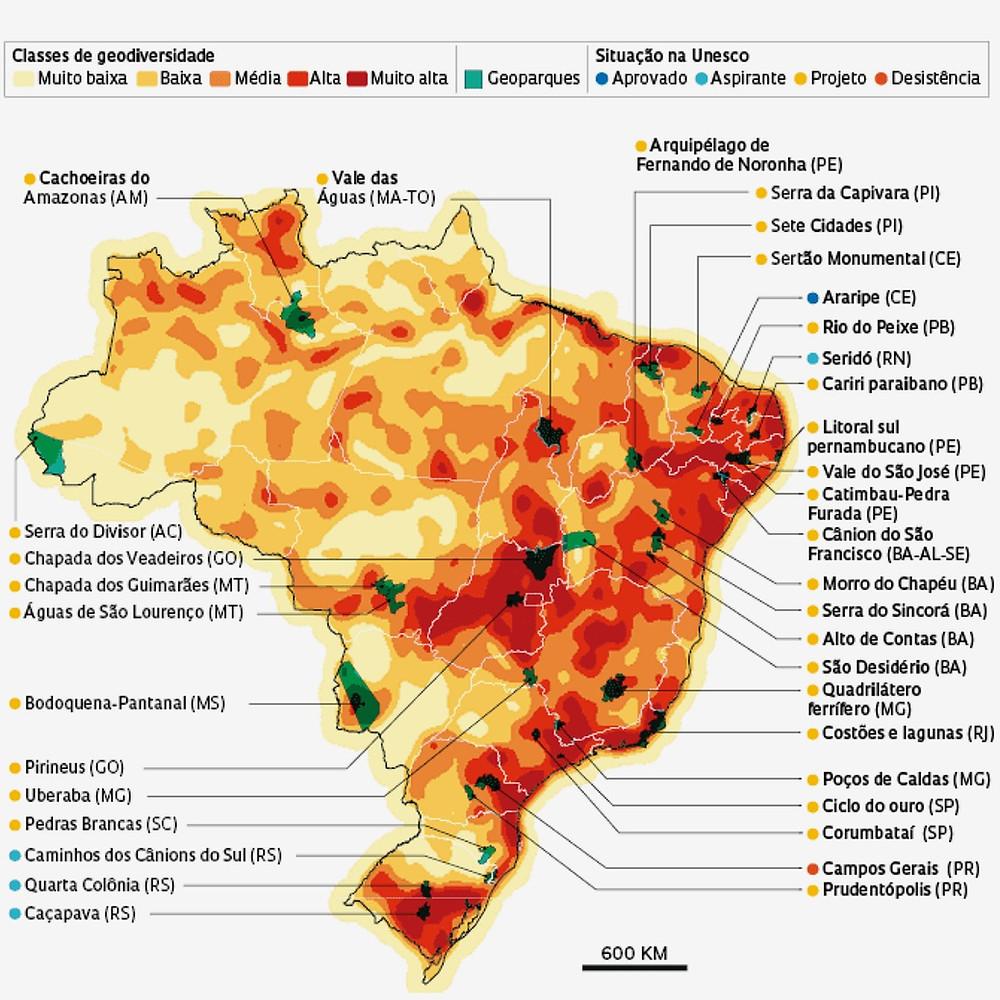 Mapa da geodiversidade brasileira