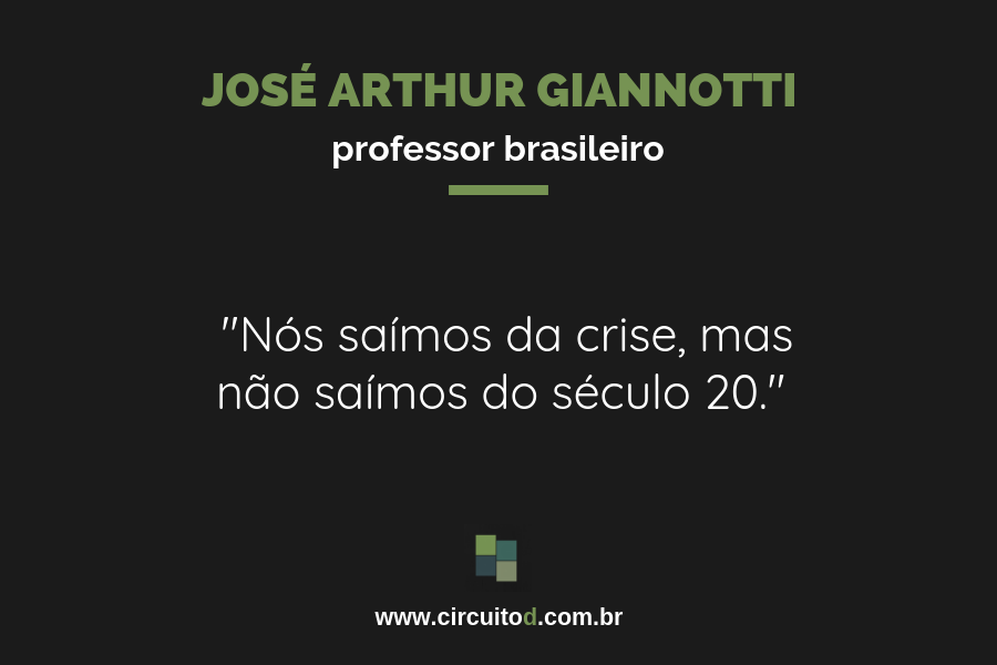 Frases sobre o Brasil de José Arthur Giannotti