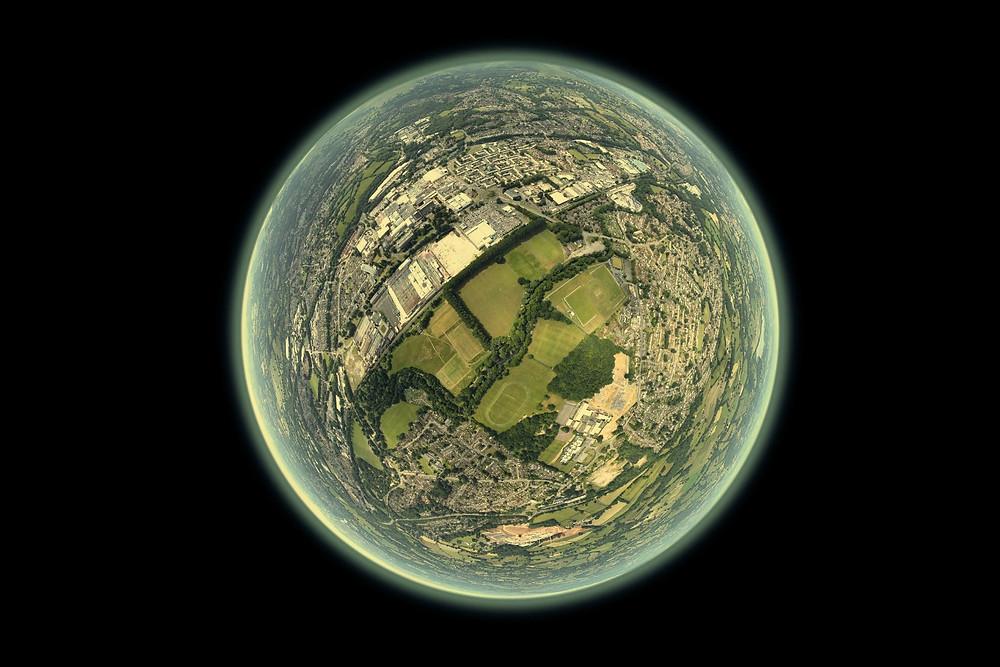 Cidade na forma da Terra