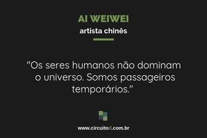 Frase de Weiwei sobre o universo