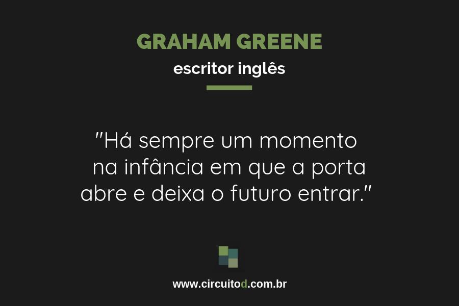 Frase de Graham Greene sobre o futuro
