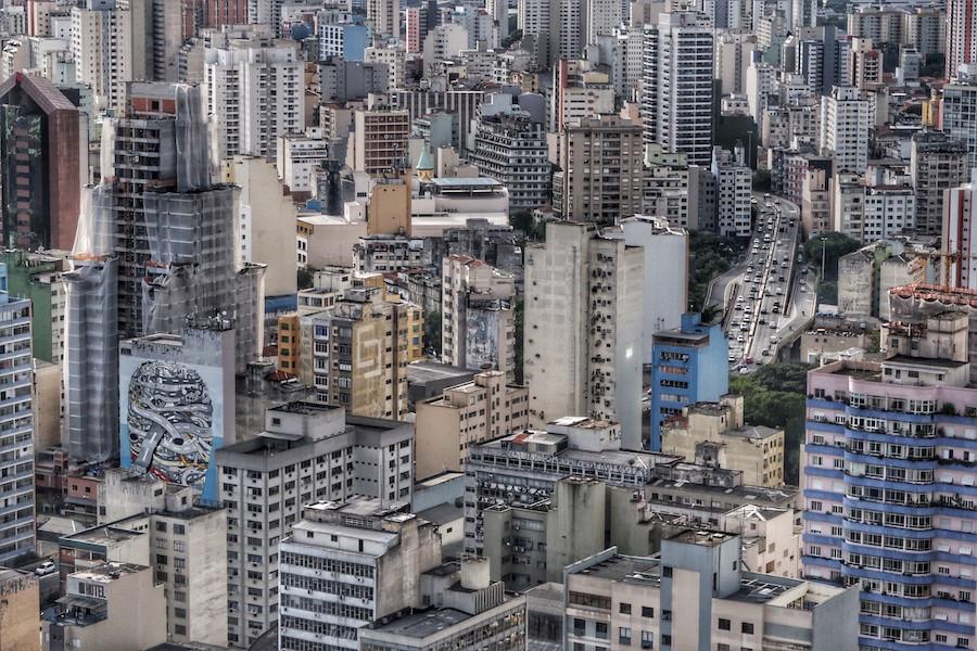 Paredão de prédios de São Paulo