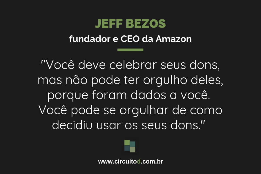 Frase de Jeff Bezos sobre talento