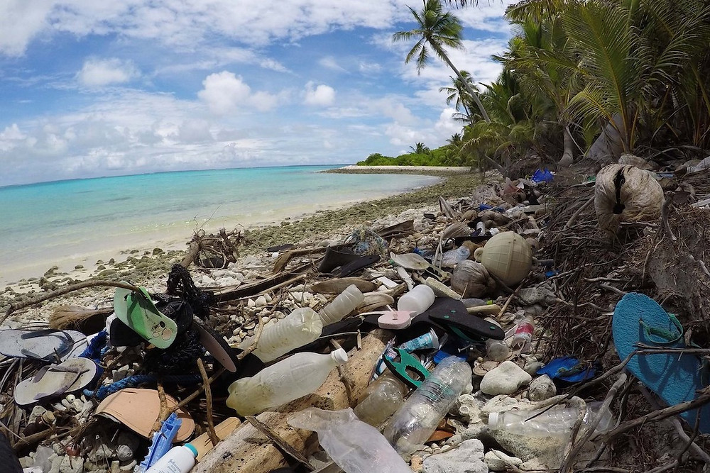 Lixo plástico nas ilhas Cocos, Austrália
