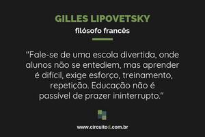 Frases sobre educação de Gilles Lipovetsky