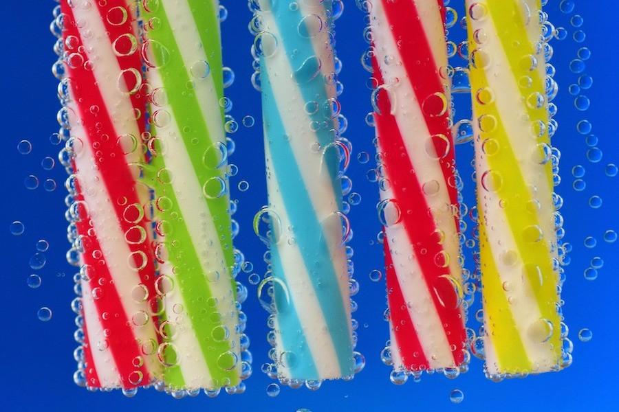 Canudinhos de plástico