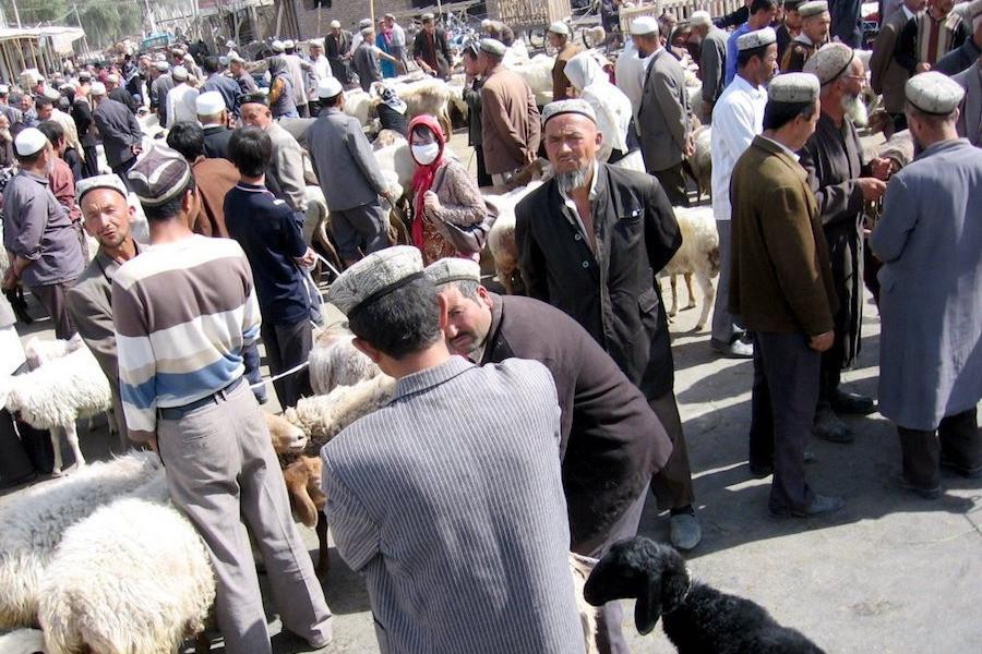 Mercado de Hotan, em Xinjiang