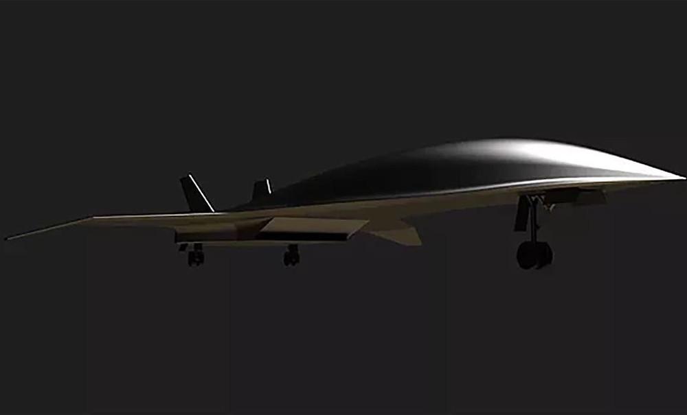 Desenho de avião hipersónico