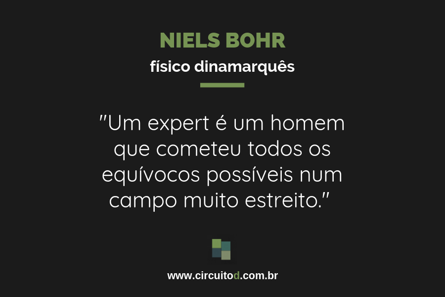Frase sobre experts de Niels Bohr