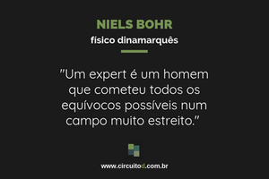 Frase sobre experts de Niels Bohr