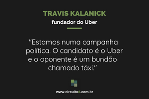 Frase de Travis Kalanick sobre concorrência