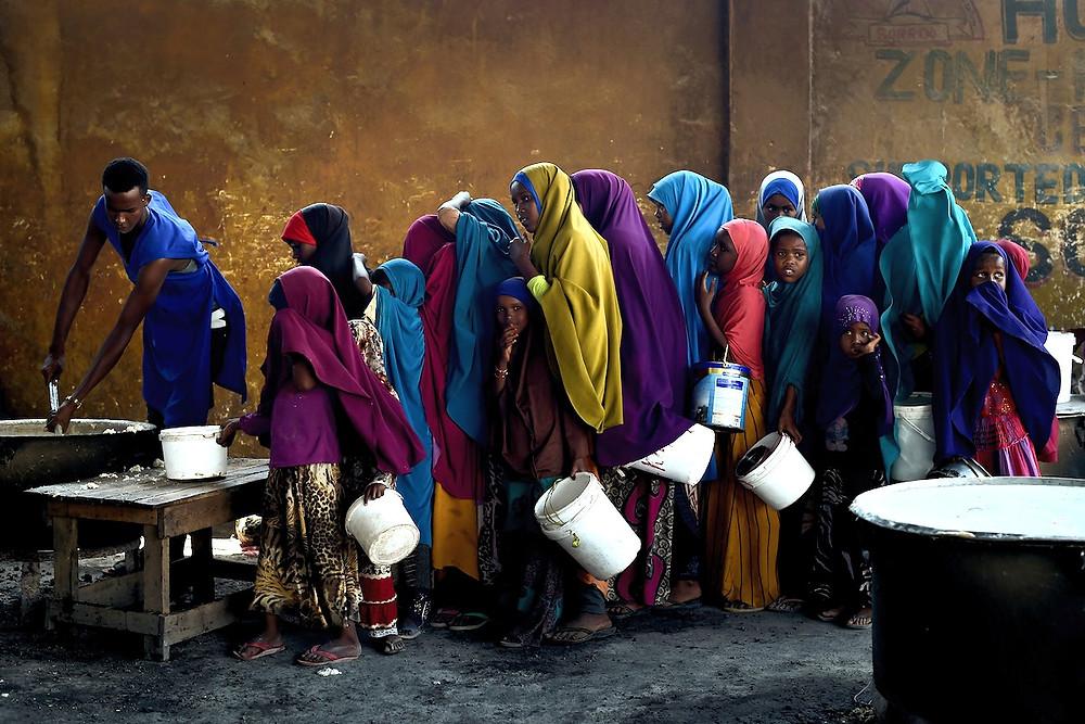 Mogadíscio: fila da água