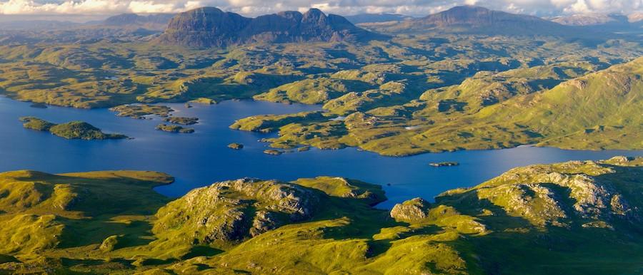 Assynt, no estado de Sutherland, na Escócia, por Timothy Gregory.