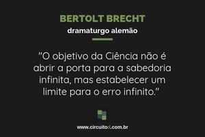 Frase de Bertolt Brecht sobre trabalho