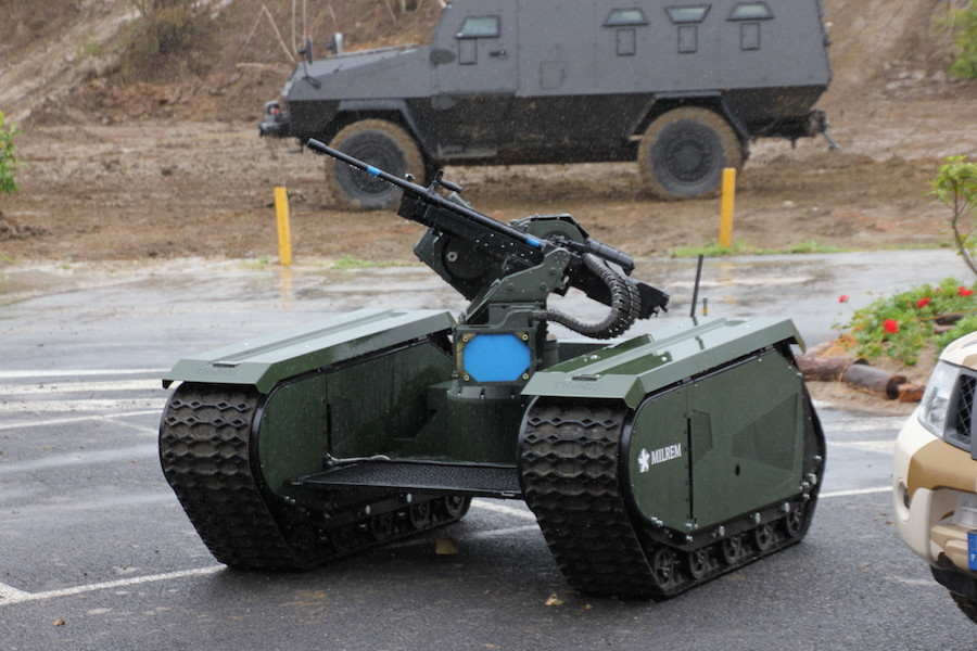 THeMIS, da Milrem: sistema de infantaria modular acoplado a metralhadora