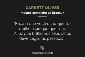 Frase de Garrett Oliver sobre trabalho e carreira