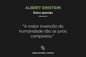 Frase de Albert Einstein sobre juros