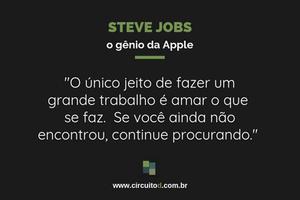 Frases sobre trabalho de Steve Jobs