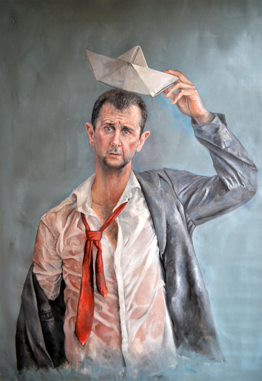Pintura de Bashar Al-Assad