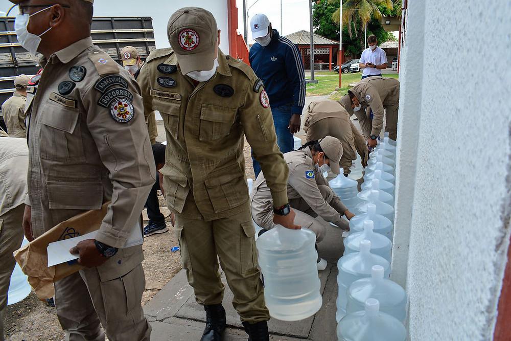 Entrega de álcool em Mato Grosso