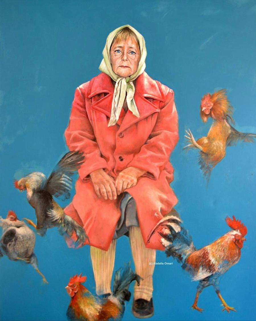 Pintura de Angela Merkel