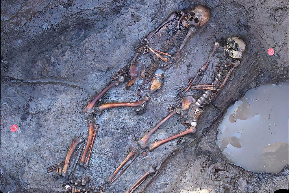 Esqueletos de nômades siberianos