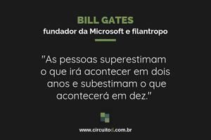 Frase de Bill Gates sobre futuro