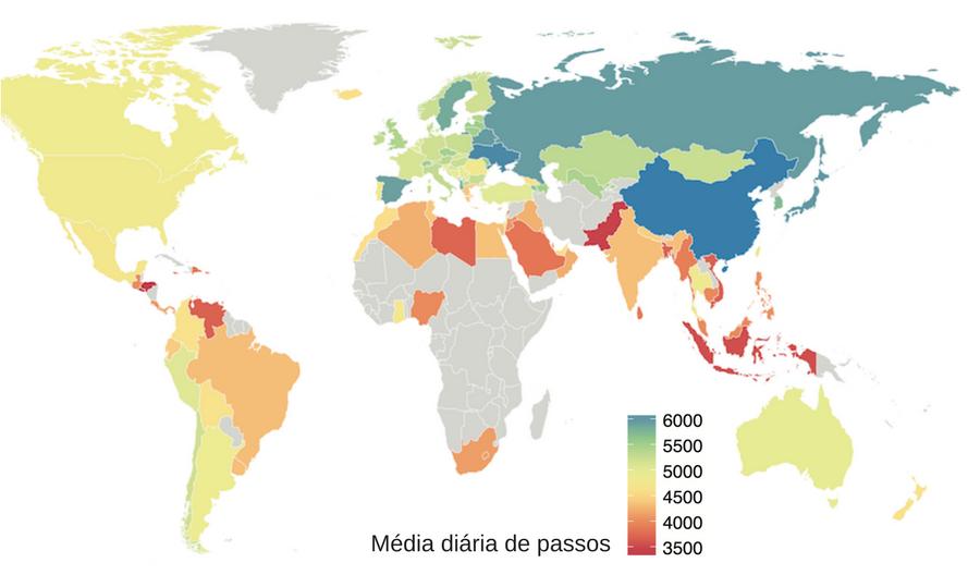 Mapa global das caminhadas