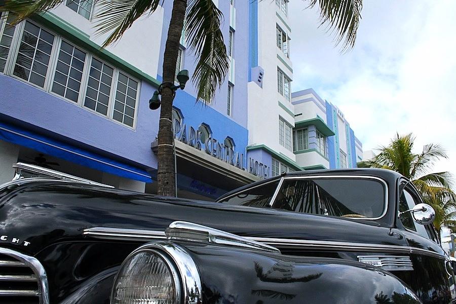 Carro antigo em Miami