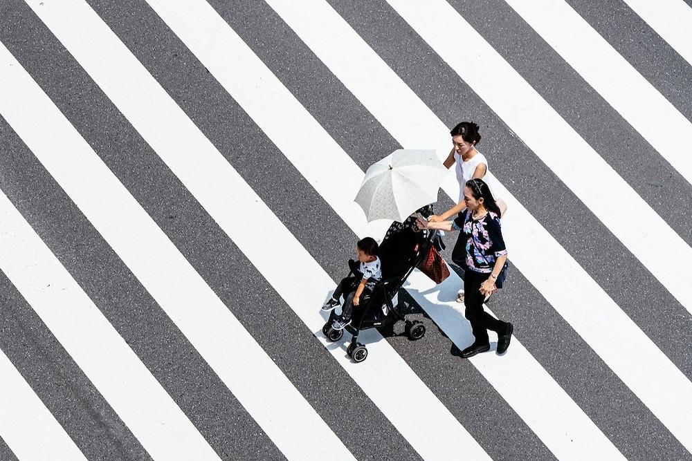 Idosos em Tóquio