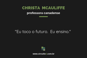 Frase de Christa Mcauliffe sobre futuro