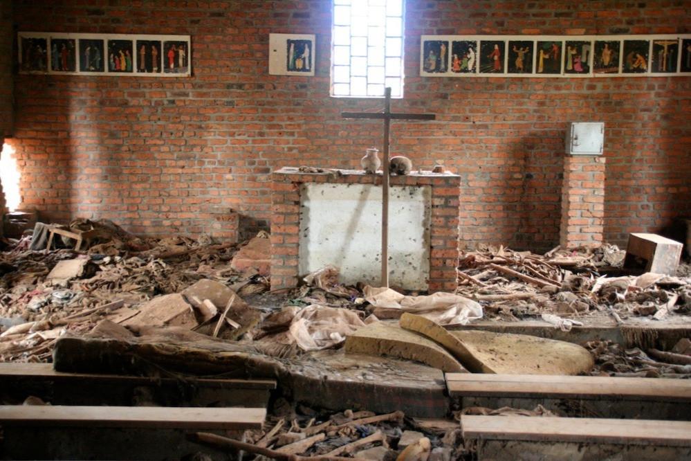 Igreja Ntrama, Ruanda, destruída em genocídio