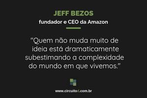 Frase de Jeff Bezos sobre ideias