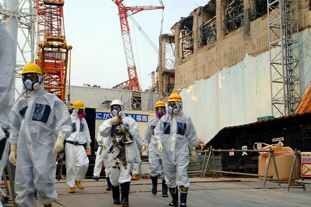 Usina nuclear de Fukushima pós-desastre