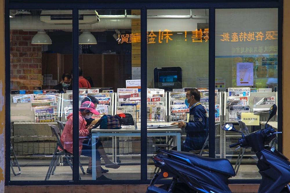 Banca de jornal em Macau
