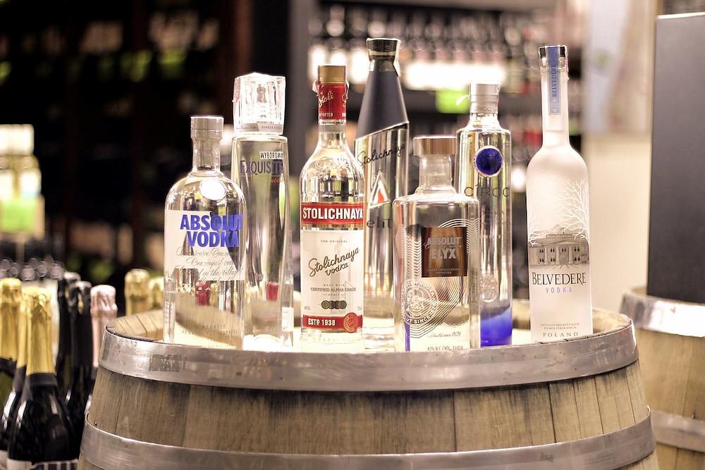 Vodkas de várias marcas