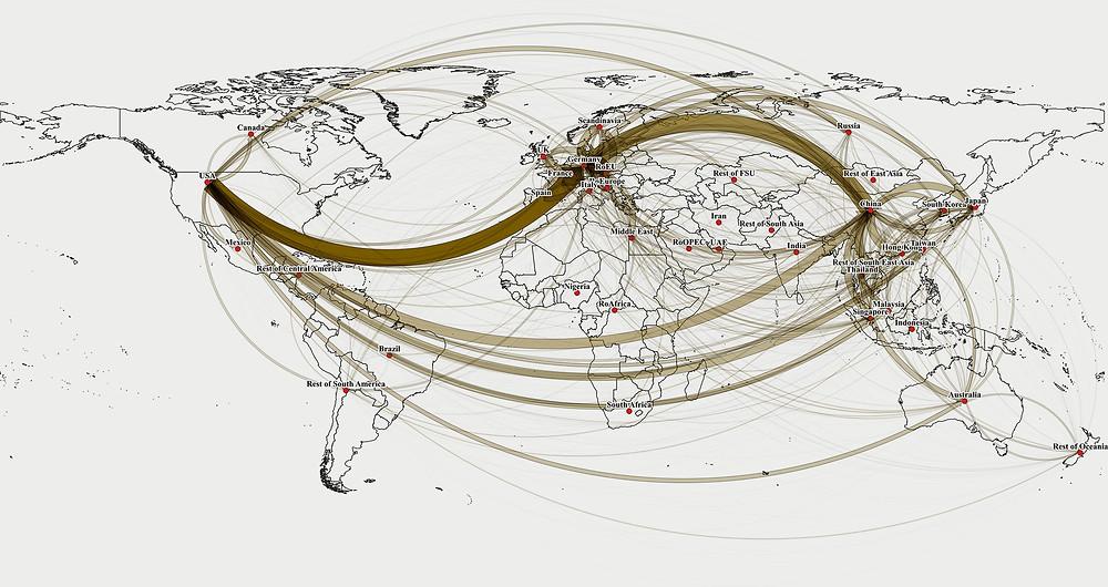 Mapa de queda no comércio durante a Covid-19